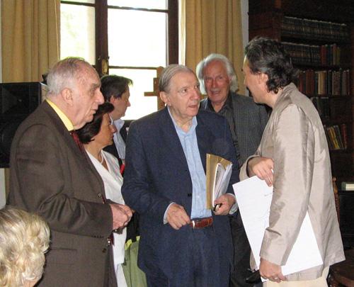 MARIO BORTOLOTTO, MARIO MESSINIS, GIAN PAOLO MINARDI AND ALBERTO CAPRIOLI - SERMONETA, GIARDINI DI NINFA, JUNE 2007