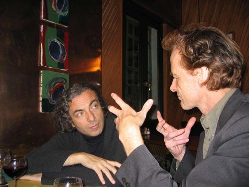 ALBERTO CAPRIOLI AND BEAT FURRER VENICE, OCTOBER 2004, PHOTO PENELOPE MESSIDI