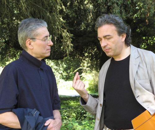ALBERTO CAPRIOLI CON GILBERTO CAPPELLI - SERMONETA, GIARDINI DI NINFA, LUGLIO 2009