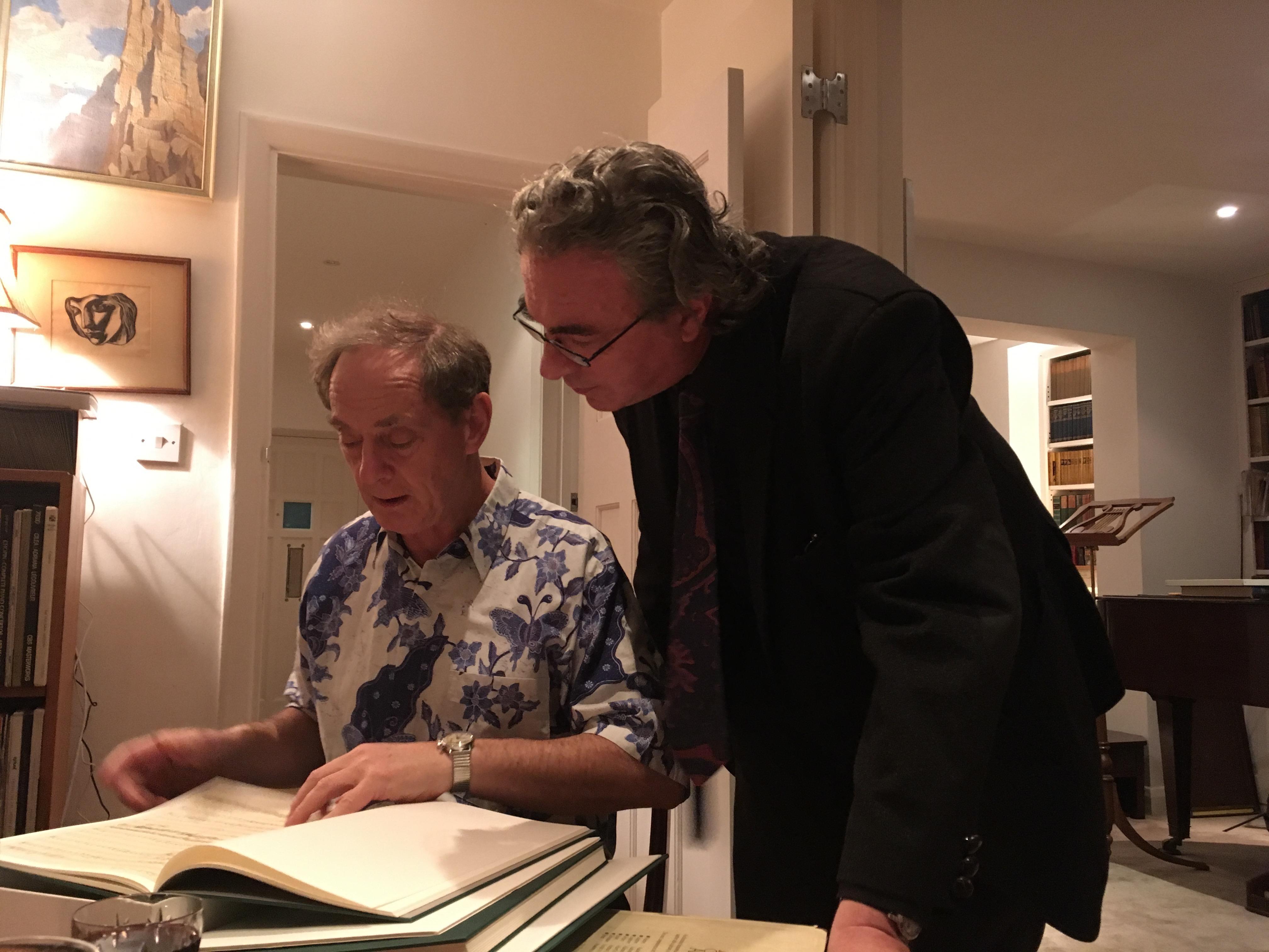 ALBERTO CAPRIOLI AND JONATHAN DEL MAR IN HIS LONDON STUDIO, JANUARY 2017