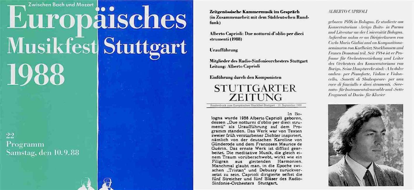 EUROPÄISCHES MUSIKFEST STUTTGART 1988