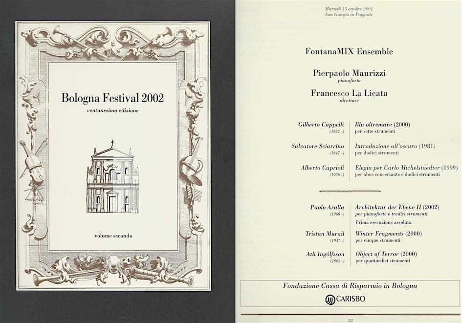 BOLOGNA FESTIVAL 2002