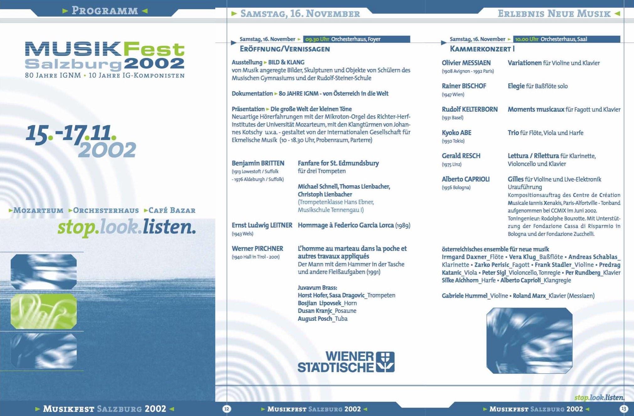 MUSIKFEST SALZBURG 2002