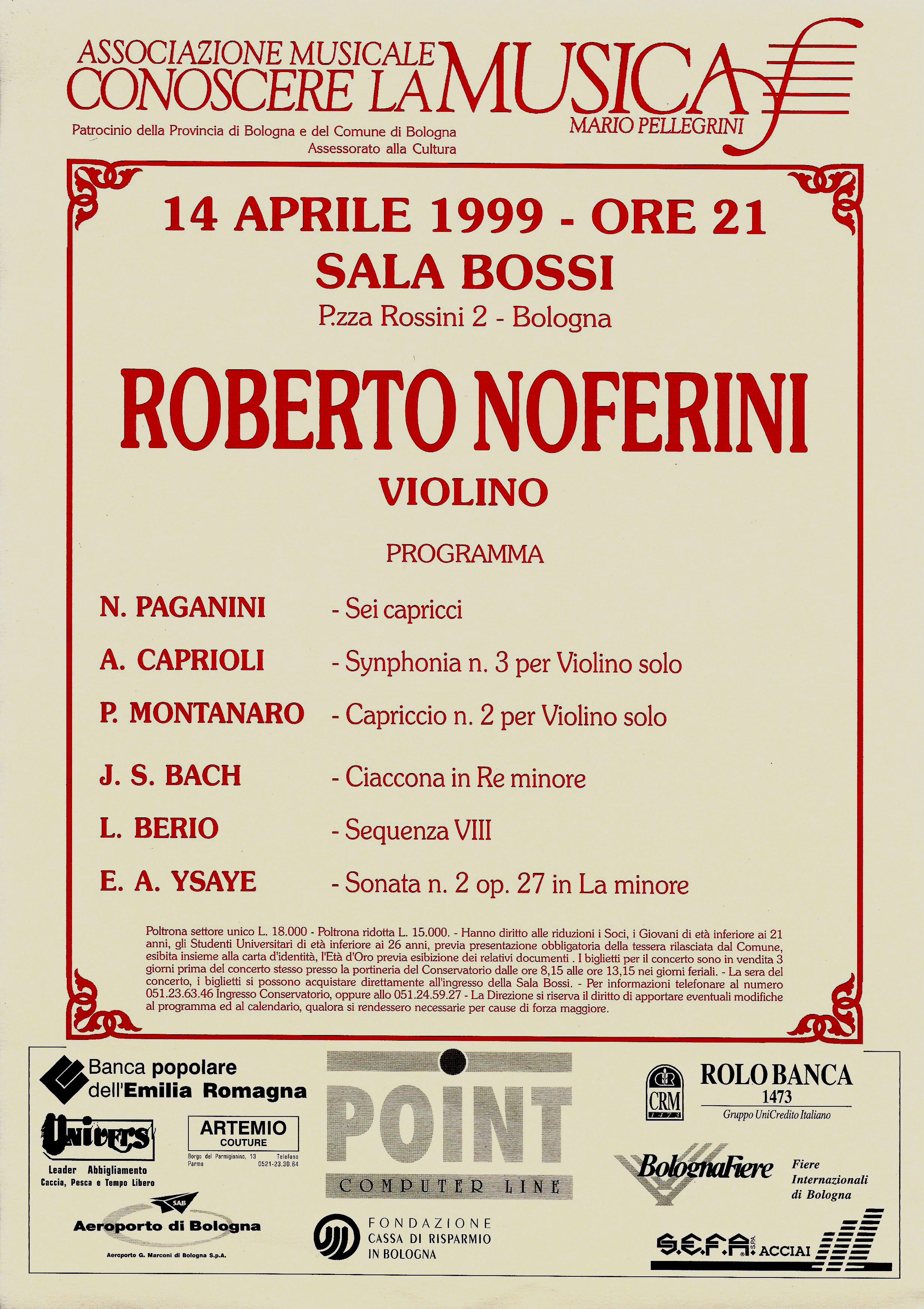 ROBERTO NOFERINI plays Alberto Caprioli, Symphonia III