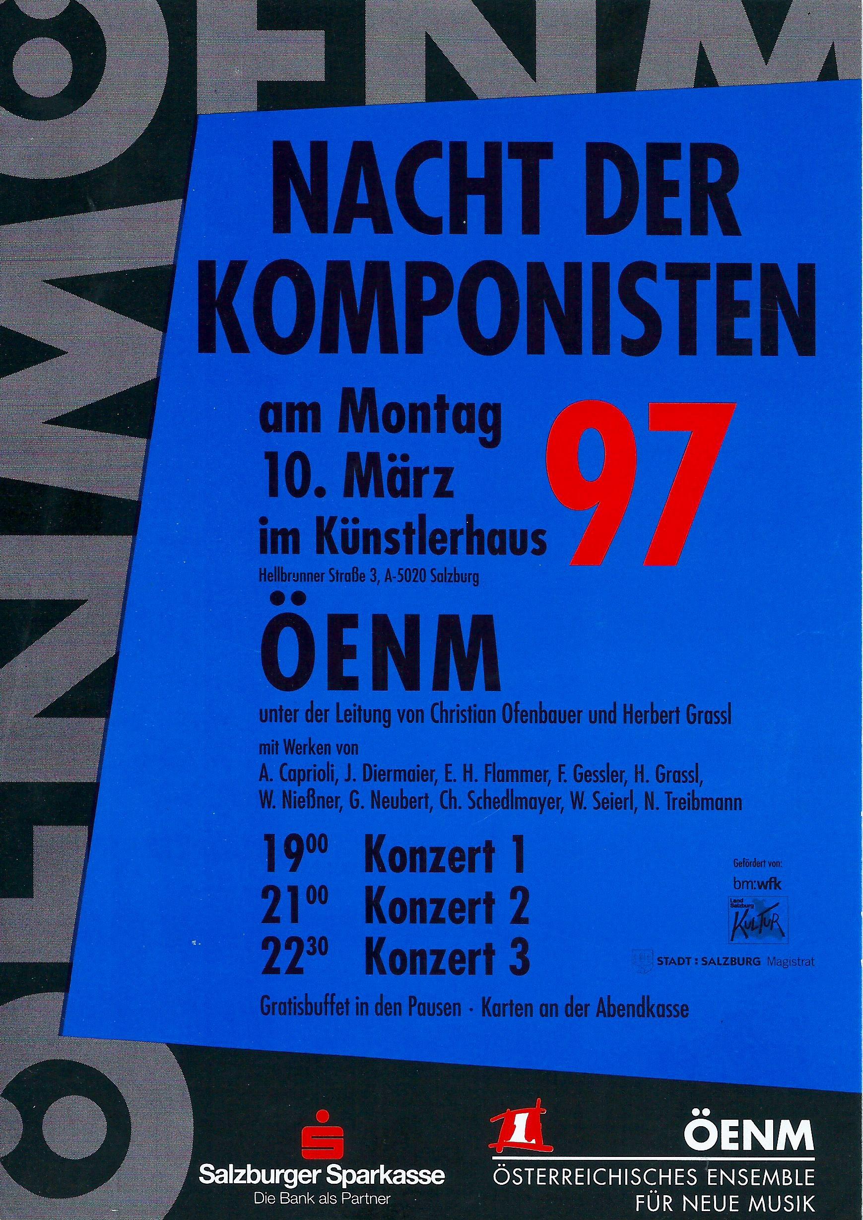 SALZBURG, KÜNSTLERHAUS, 10.3.1997